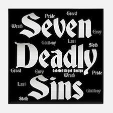 The Seven Deadly Sins Tile Coaster