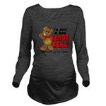 teddyb.png Long Sleeve Maternity T-Shirt