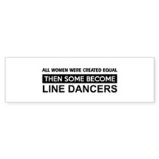 line created equal designs Bumper Sticker