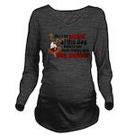 SLOBBER2.png Long Sleeve Maternity T-Shirt