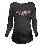 kissatruckerwh.png Long Sleeve Maternity T-Shirt