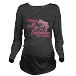 Miss Fisherman Long Sleeve Maternity T-Shirt