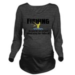 Fishing Fun Long Sleeve Maternity T-Shirt