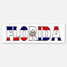 Florida - Dominican Republic Bumper Bumper Bumper Sticker