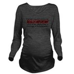 concentrate.png Long Sleeve Maternity T-Shirt