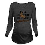Hunt Like A Girl Long Sleeve Maternity T-Shirt