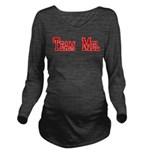 Team Mel (Plain) Long Sleeve Maternity T-Shirt