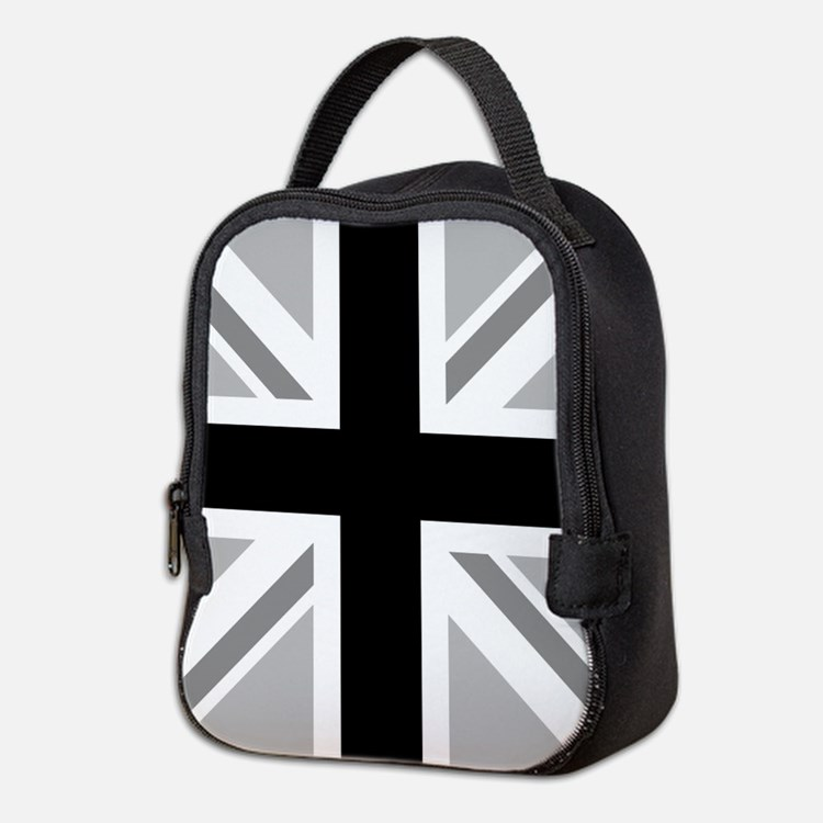 Union Flag Monochrome Neoprene Lunch Bag