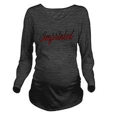 Imprinted Long Sleeve Maternity T-Shirt
