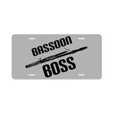 Bassoon Boss Music Instrument Aluminum License Pla