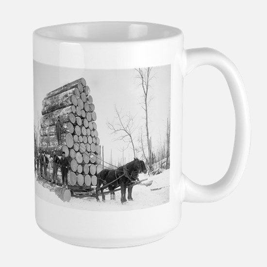Loggers At Work Mugs