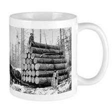 Hauling a Load of Logs Mugs