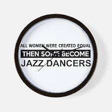 jazz created equal designs Wall Clock