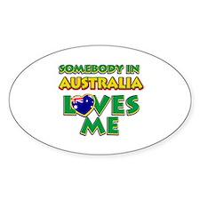 Somebody in Australia Loves me Stickers