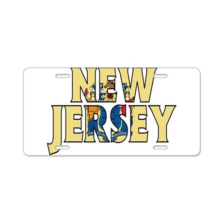 New Jersey Aluminum License Plate By WorldBanners196