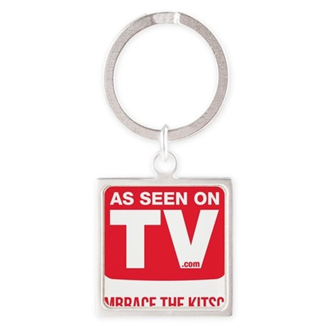 Embrace The Kitsch Version 2 Square Keychain