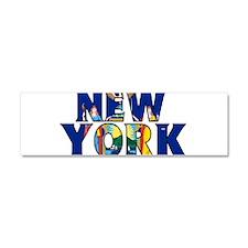 New York Car Magnet 10 x 3