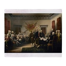 Declaration Independence Throw Blanket