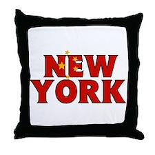 New York - China Throw Pillow
