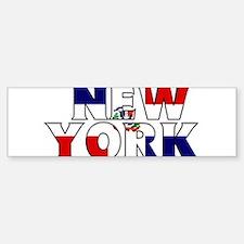 New York - Dominican Republic Bumper Bumper Bumper Sticker