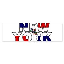 New York - Dominican Republic Bumper Bumper Sticker