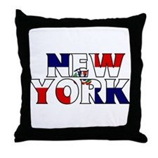 New York - Dominican Republic Throw Pillow