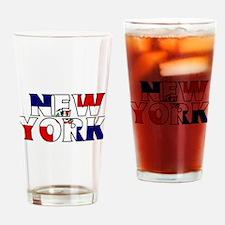 New York - Dominican Republic Drinking Glass