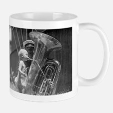 Baby Playing Tuba Mugs