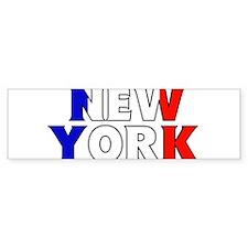 New York - France Bumper Bumper Sticker