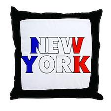 New York - France Throw Pillow