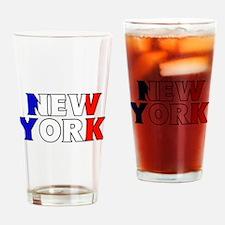 New York - France Drinking Glass