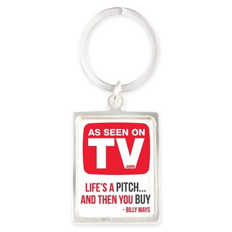 Life's A Pitch And Then You Buy Portrait Keychain