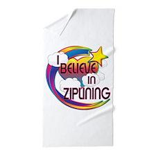 I Believe In Ziplining Cute Believer Design Beach