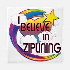 I Believe In Ziplining Cute Believer Design Queen