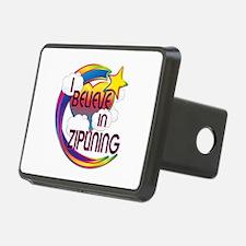 I Believe In Ziplining Cute Believer Design Rectan