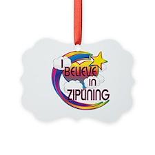 I Believe In Ziplining Cute Believer Design Pictur