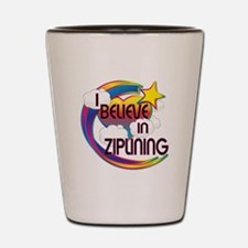 I Believe In Ziplining Cute Believer Design Shot G