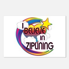 I Believe In Ziplining Cute Believer Design Postca