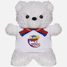 I Believe In Ziplining Cute Believer Design Teddy