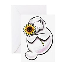 Sunny Manatee Greeting Card