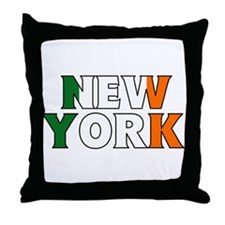 New York - Ireland Throw Pillow