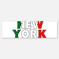 New York - Italy Bumper Bumper Bumper Sticker
