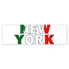 New York - Italy Bumper Bumper Sticker