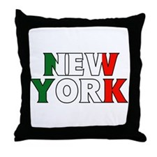 New York - Italy Throw Pillow
