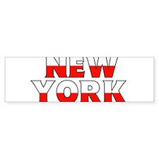 New York - Poland Bumper Bumper Sticker