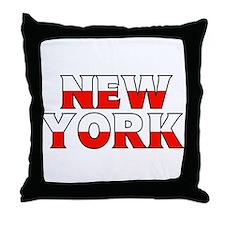 New York - Poland Throw Pillow