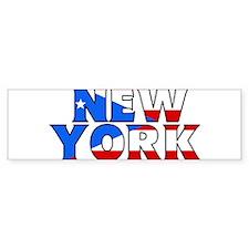 New York - Puerto Rico Bumper Bumper Sticker