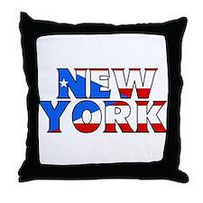 New York - Puerto Rico Throw Pillow