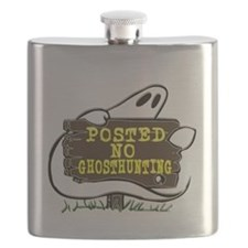 No Ghost Hunting Sign Flask