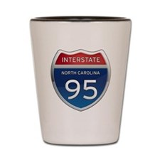 NC Interstate 95 Shot Glass